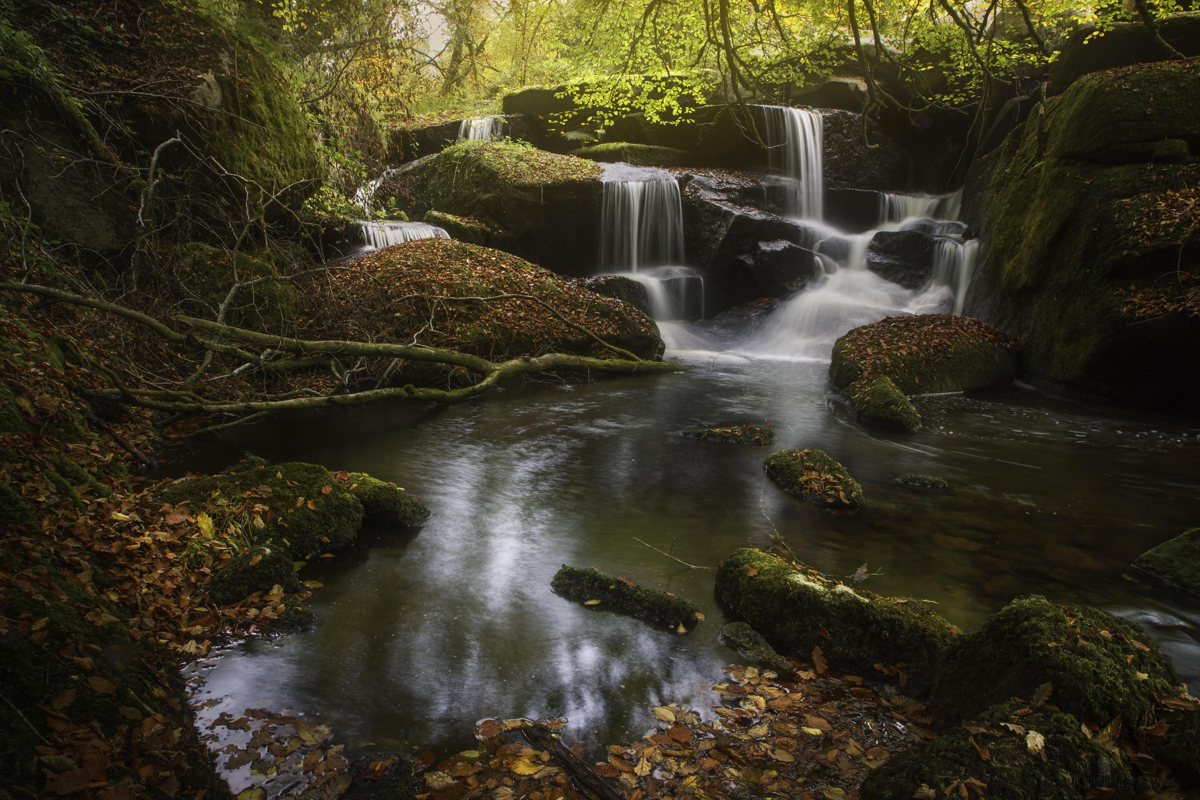 осень, река, водопал