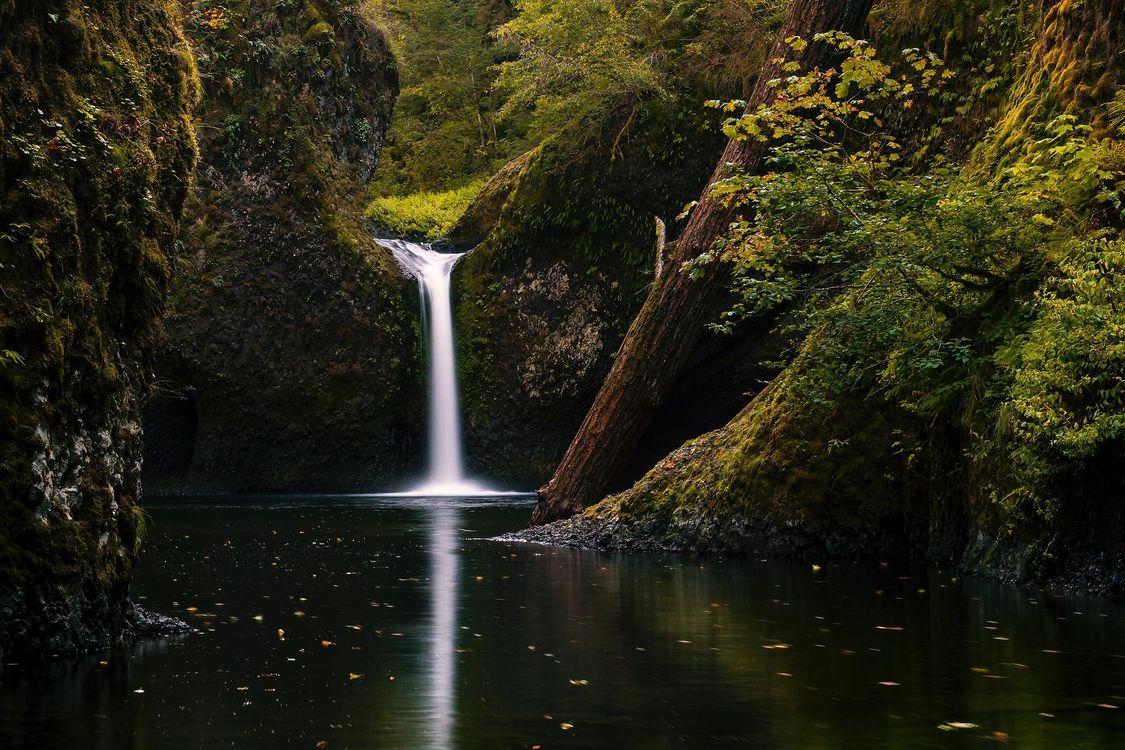 Фото бесплатно Upper Punchbowl Falls, Columbia RIver Gorge, водопад - на рабочий стол