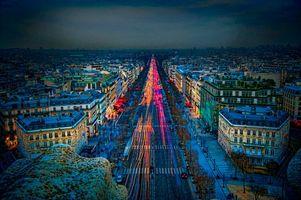 Бесплатные фото Франция, Париж, город, ночь, огни