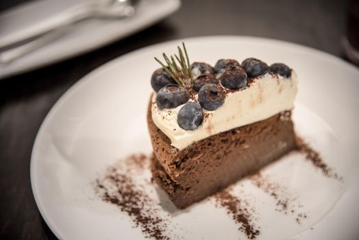 Photo free blueberries, chocolate souffl, chocolate