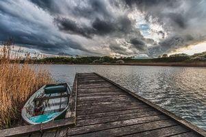 Фото бесплатно озеро, мост, причал