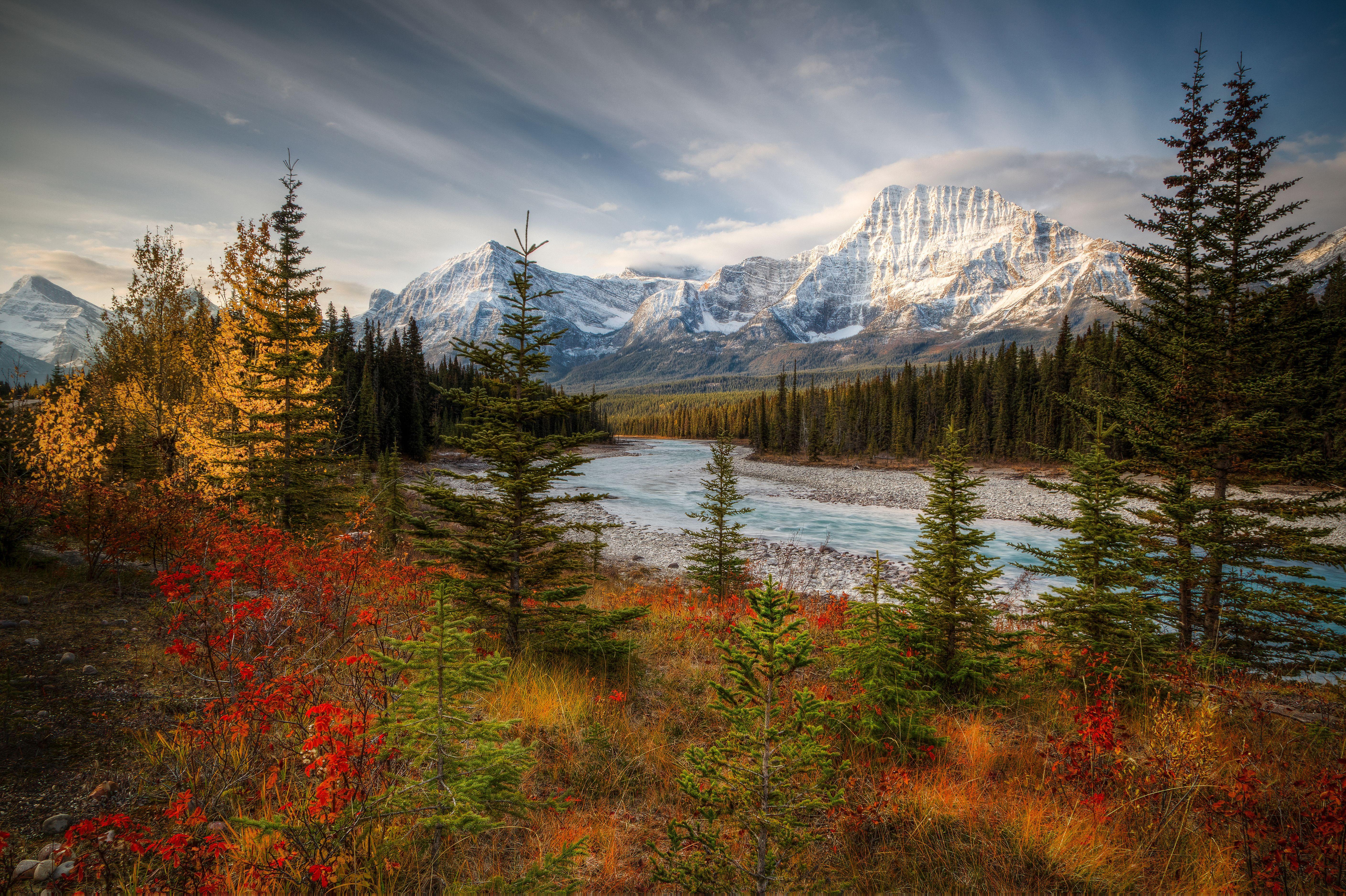обои Jasper National Park, Canada, осень, река картинки фото