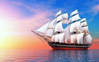 Бесплатные фото море, корабль, паруса