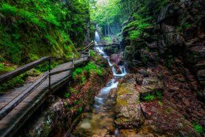 Фото бесплатно Avalanche Falls, White Mountains, New Hampshire