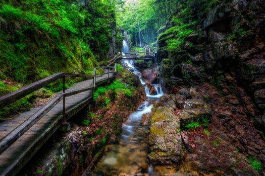 Photo free Avalanche Falls, White Mountains, New Hampshire
