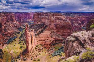 Бесплатные фото Spider Rock Overlook,Каньон-де-Челли,Аризона,горы,скалы,пейзаж,Паук рок