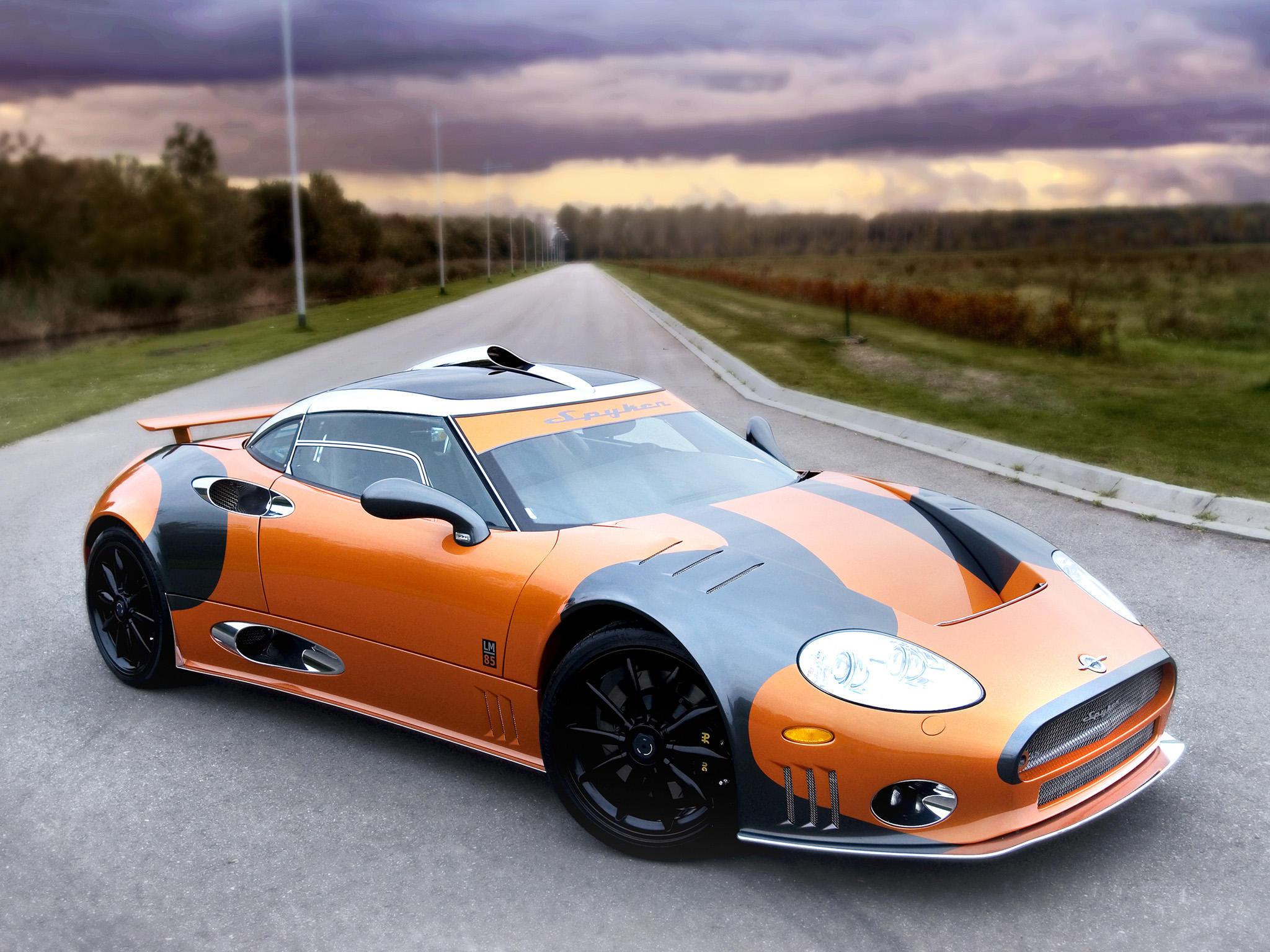 Обои Spyker, автомобиль, дорога