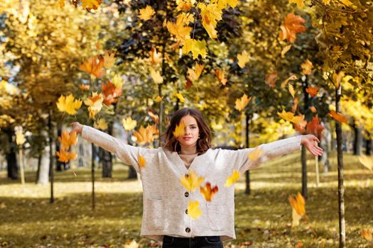 Photo free girl, Park, autumn