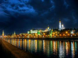 Фото бесплатно Москва-река, Москва, Россия, Московский Кремль