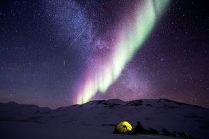 Фото бесплатно космическое пространство, бесплатные изображения, полярное сияние