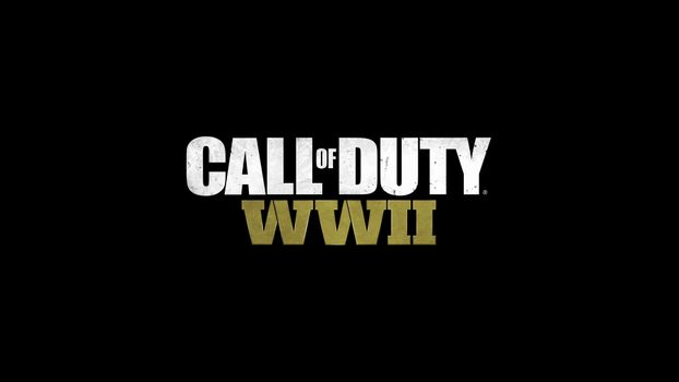 Photo free Call Of Duty WWII, splash screen, black background