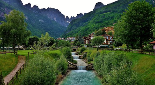 Photo free mountains Italy, houses, landscapes