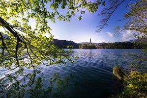 Фото бесплатно Специальный вид на остров Блед, Словения, пейзаж