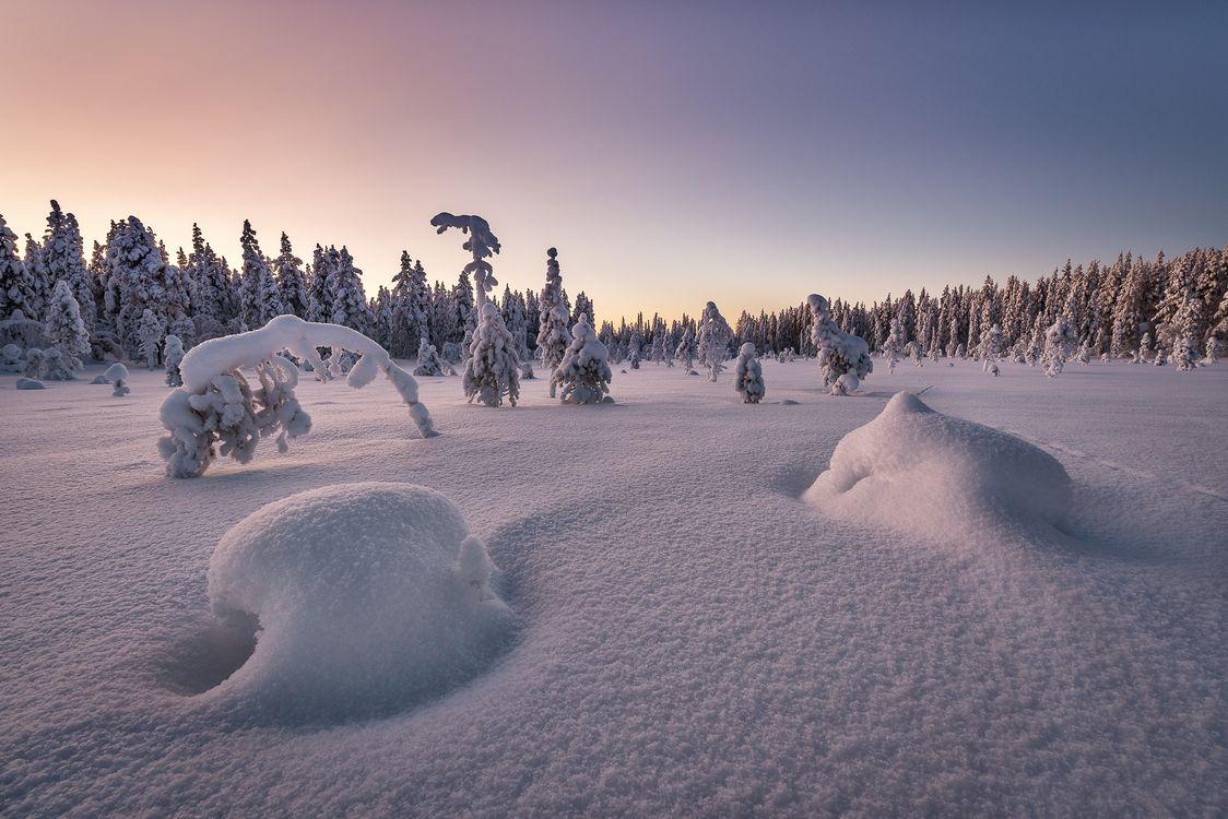 Фото бесплатно сугробы Финляндия природа - на рабочий стол