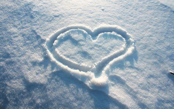 Фото бесплатно сердце, снег, зима