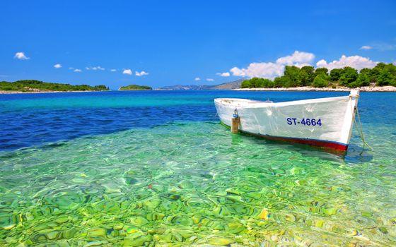 Бесплатные фото море,остров,лодка,отдых