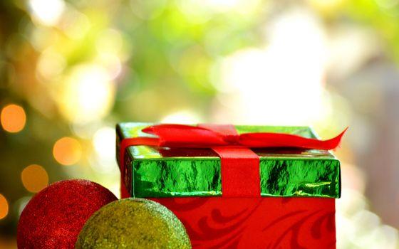 Фото бесплатно праздник, подарок, блеск