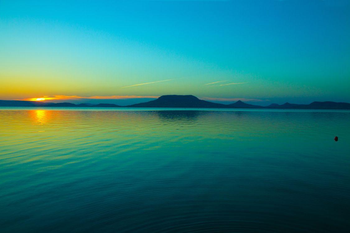Фото бесплатно море, горизонт, небо, рассвет, sea, horizon, sky, dawn, пейзажи