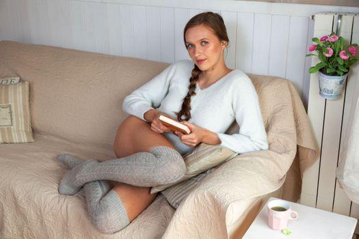 Photo free sofa, braid, book