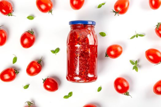 Photo free food, tomatoes, jar