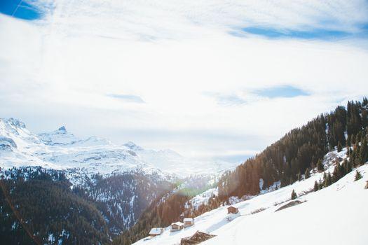 Фото бесплатно лыжи, трасса, уклона