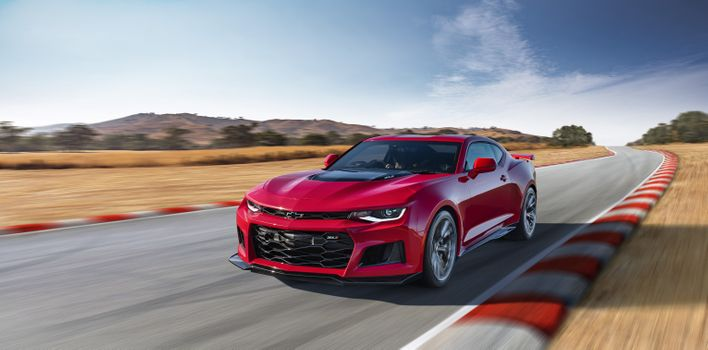 Photo free Chevrolet Camaro Zl1, muscle cars, racing track