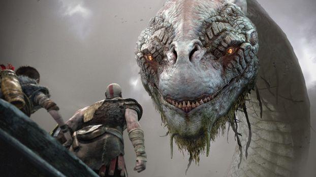 Заставки игры PS, игры, God Of War 4