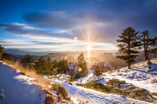Free snow landscape hot photos