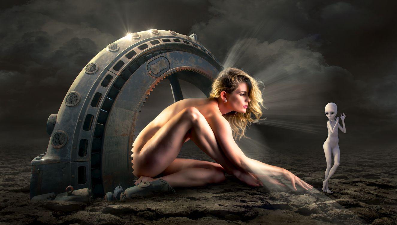 Фото бесплатно сюрреалистический, фантазия, выдумка, фотошоп, девушка, гуманоид, сюрреализм - на рабочий стол
