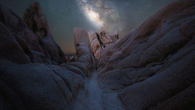 Фото бесплатно ночь, рок, природа