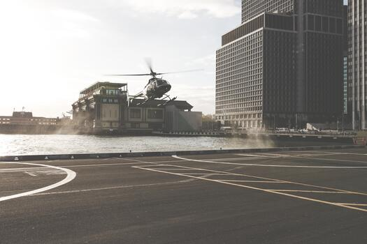Photo free building, skyscraper, helicopter