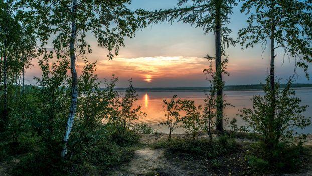 Photo free sunset, scenic, reflection
