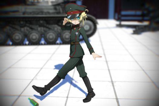 Фото бесплатно degurechaff Таня, военная форма, блондинка