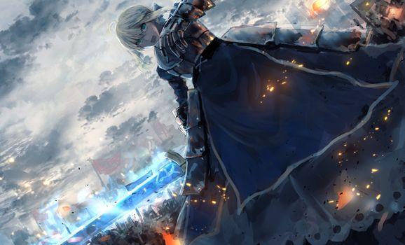 Photo free saber alter, battle, war