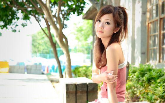 Photo free asian appearance, model, sun