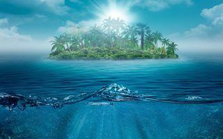Фото бесплатно тропический остров, пальмы, океан