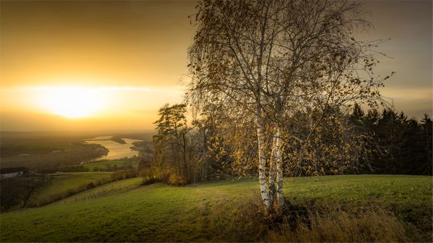 Photo free Danube Trail, Austria, sunset