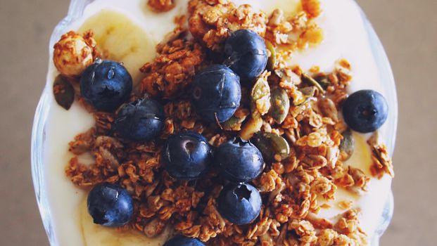 Фото бесплатно еда, хлопья для завтрака, десерт