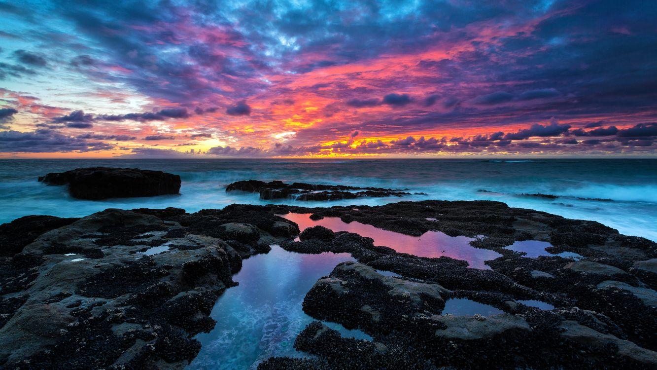 Фото закат пейзажи скалы - бесплатные картинки на Fonwall