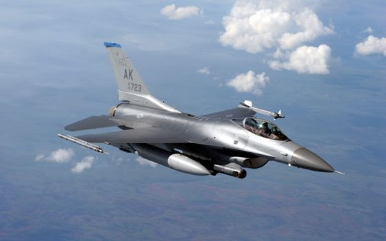 Photo free General dynamics f-16 fighting Falcon aircraft military aircraft