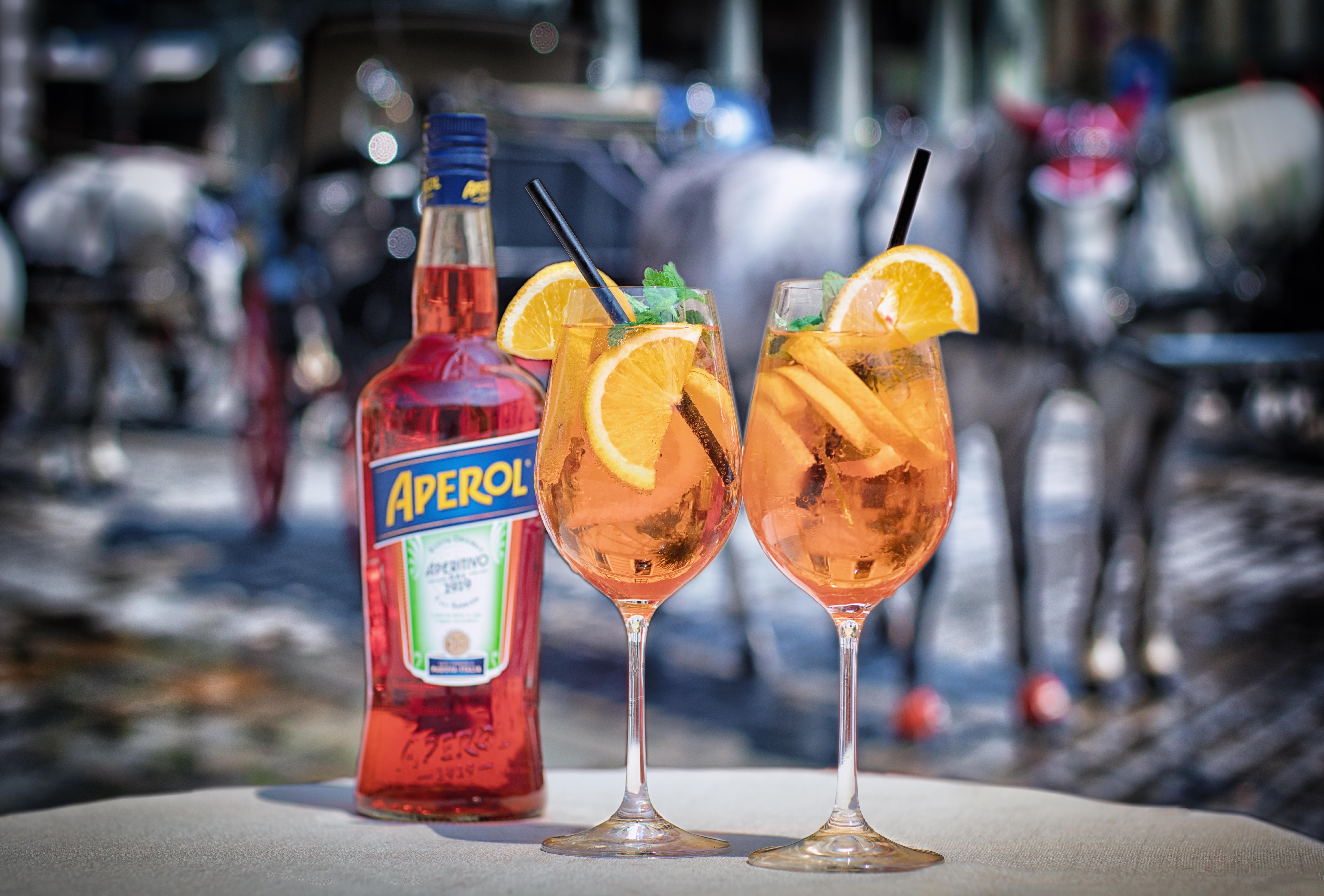Обои Aperol Time, Aperol, напиток, коктейль