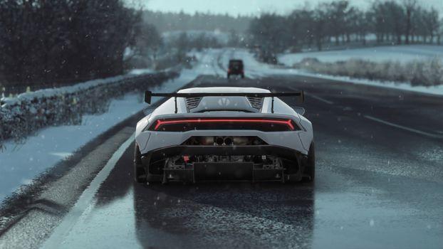 Photo free Artist, Lamborghini Huracan, Behance