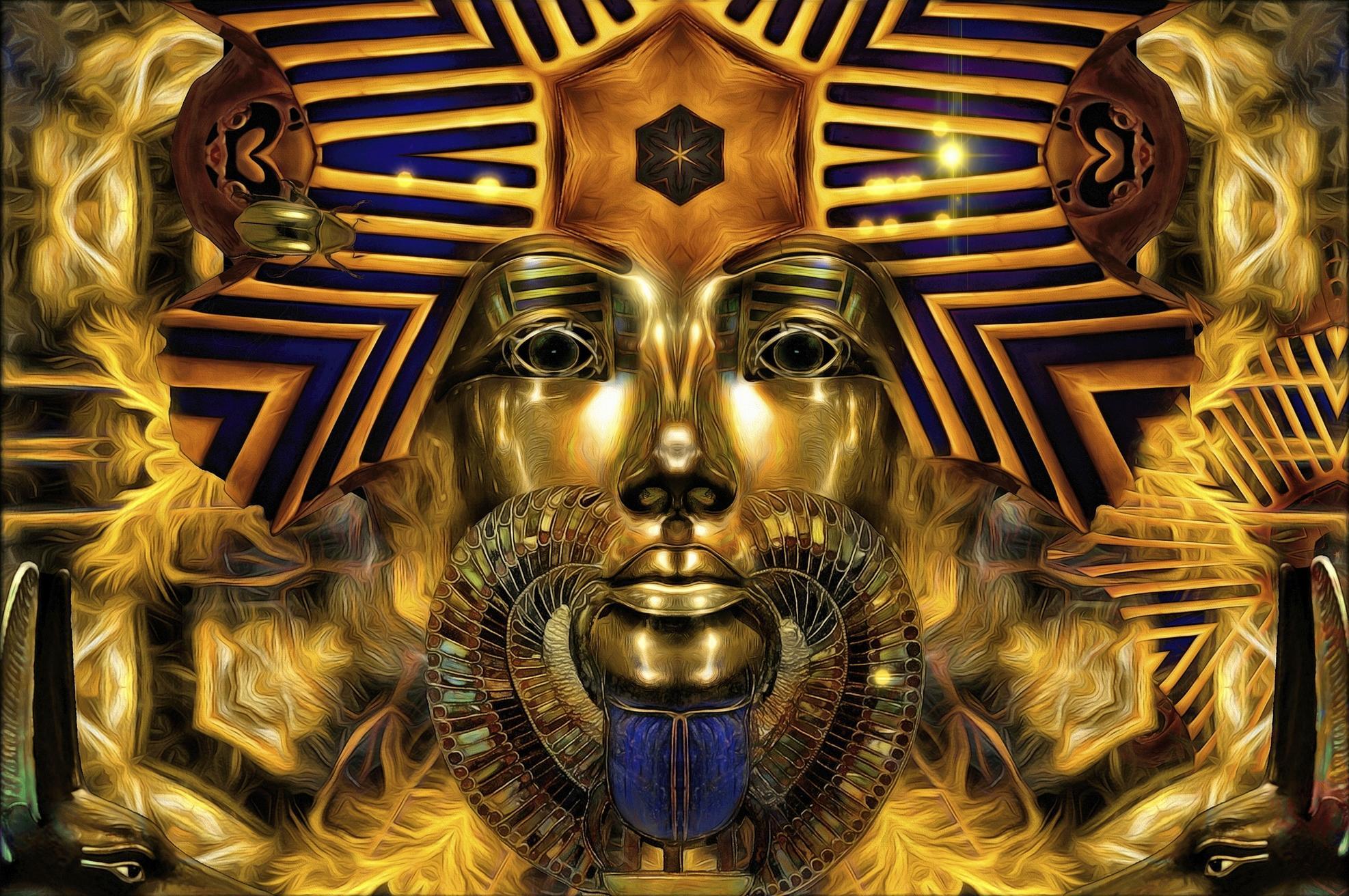 Обои Золотой фараон, фантастика, art