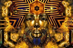 Фото бесплатно Золотой фараон, фантастика, art