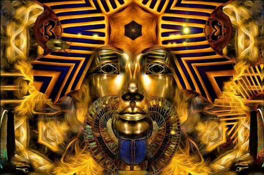 Photo free Golden Pharaoh, fantasy, art
