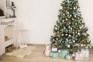 Photo free New Year, holiday, Christmas tree