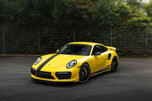 Заставки Porsche 911, автомобили, желтый
