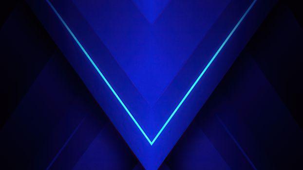 Фото бесплатно абстракция, треугольник, синий
