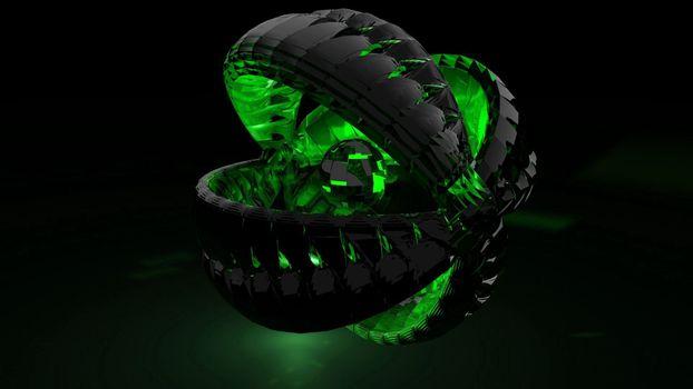 Зелёный 3Д шар
