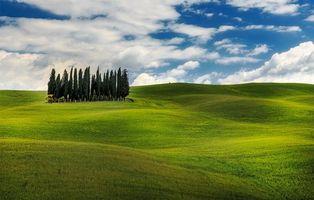 Фото бесплатно поле, небо, холмы